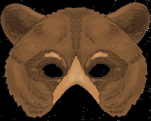 maska brunatny