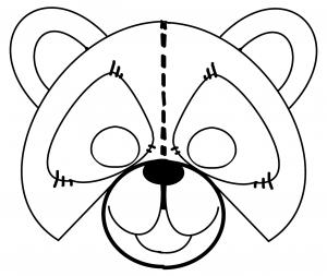 maska misia szkic